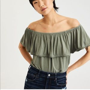 American Eagle Soft and Sexy off the shoulder tee